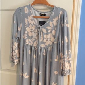 Powder Blue Floral Dress